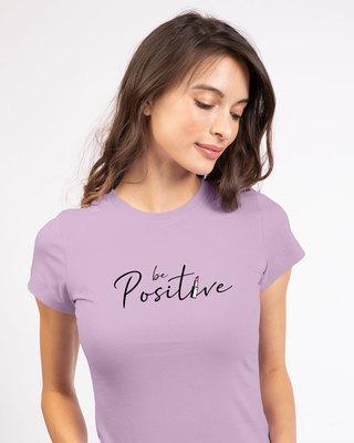 Shop Be Positive Lipstick Half Sleeve T-shirt-Front