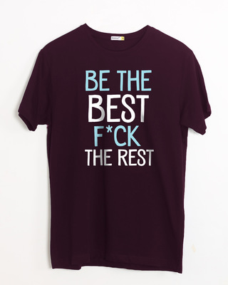 Shop Be The Best Half Sleeve T-Shirt-Front