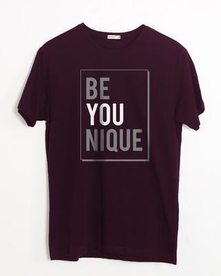Shop Be Unique Half Sleeve T-Shirt-Front