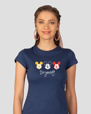 Shop Be Yourself Mickey Half Sleeve T-Shirt (DL)-Front