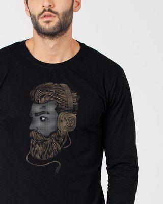 Shop Beard Bro Full Sleeve T-Shirt-Front