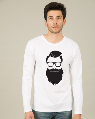 Shop Beard Man Full Sleeve T-Shirt-Front