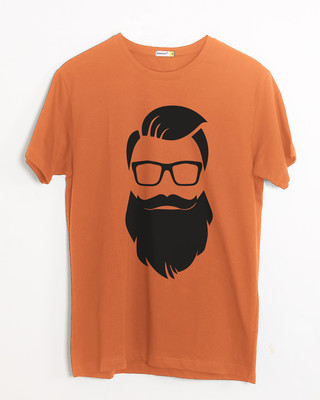Shop Beard Man Half Sleeve T-Shirt-Front