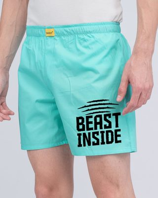 Shop Beast Inside Side Printed Boxer-Front