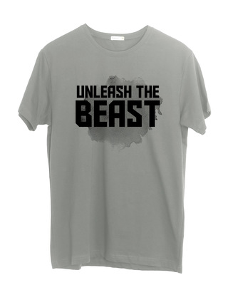 Shop Beast Is Unleashed Half Sleeve T-Shirt-Front