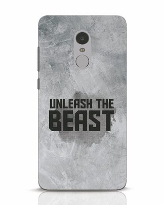 4cc9464cc63 white stub Shop Beast Is Unleashed Xiaomi Redmi Note 4 Mobile Cover-Front