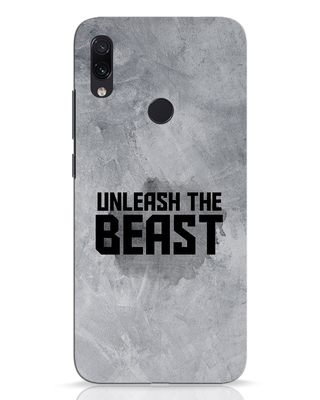 Shop Beast Is Unleashed Xiaomi Redmi Note 7 Pro Mobile Cover-Front