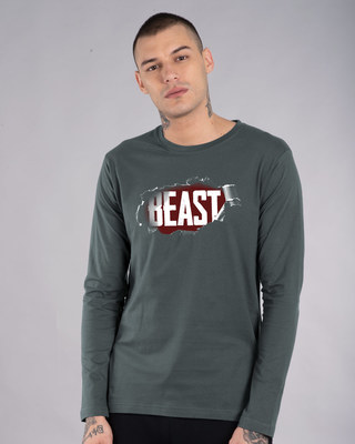 Shop Beast Tear Full Sleeve T-Shirt-Front