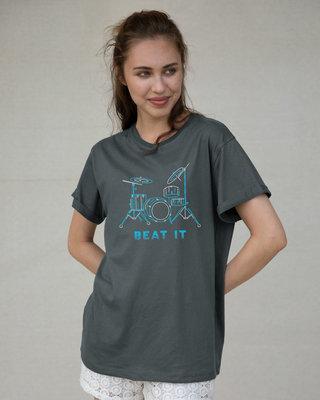 Shop Beat It Boyfriend T-Shirt-Front