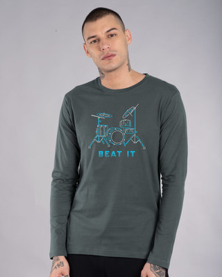 Shop Beat It Full Sleeve T-Shirt-Front