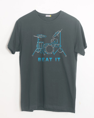 Shop Beat It Half Sleeve T-Shirt-Front