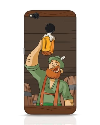 Shop Beer It On Xiaomi Redmi 4 Mobile Cover-Front