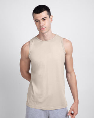 Shop Beige Grey Vest-Front