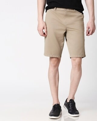 Shop Desert Beige Men's Shorts-Front