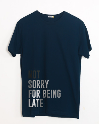 Buy Being Late Half Sleeve T-Shirt Online India @ Bewakoof.com