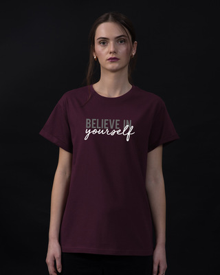 Shop Believe In You Boyfriend T-Shirt-Front