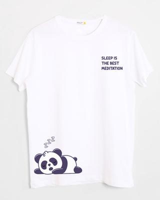 Shop Best Motivation Half Sleeve T-Shirt White-Front