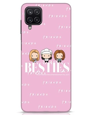 Shop Bestie Trio Samsung Galaxy A12 Mobile Cover (FRL)-Front