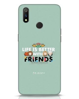 Shop Better Friends Realme 3 Pro Mobile Cover (FRL)-Front