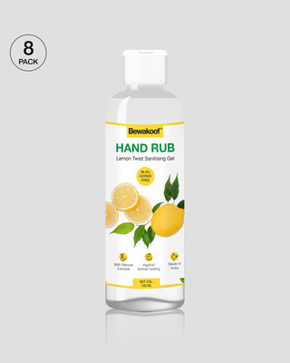 Shop Bewakoof Hand Rub Sanitising Gel- Lemon (100 ml) Pack of 8-Front