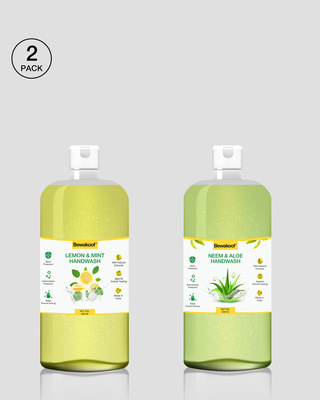 Shop Bewakoof Neem & Aloe Hand Wash & Bewakoof Lemon & Mint Hand Wash (500ml)-Front