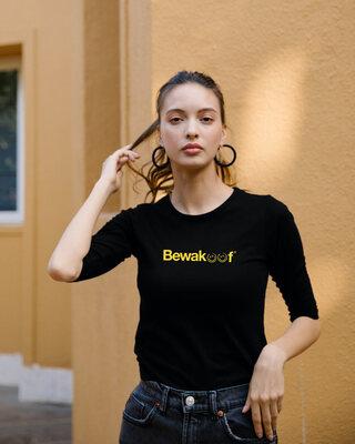 Shop Bewakoof Smile 2.0 Round Neck 3/4 Sleeve T-Shirts-Front