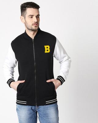 Shop Bewakoof Varsity Bomber Jacket-Front
