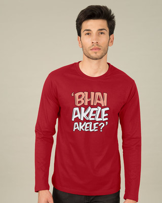 Shop Bhai Akele Akele Full Sleeve T-Shirt-Front