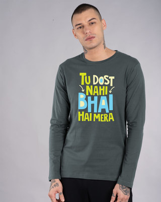 Shop Bhai Hai Mera Full Sleeve T-Shirt-Front