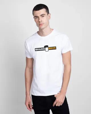 Shop Bhang Bros Half Sleeve T-Shirt-Front