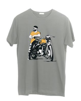 Shop Biker Bro Half Sleeve T-Shirt-Front