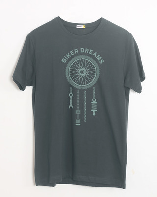 Shop Biker Dreams Half Sleeve T-Shirt-Front
