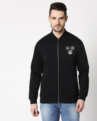 Shop Bikers Badge Bomber Jacket-Front