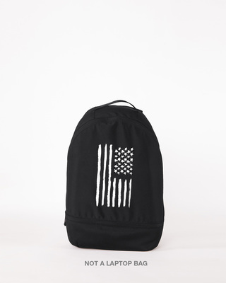 Shop Black & White Usa Small Backpack-Front