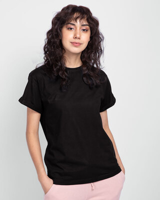 Shop Black Boyfriend T-Shirt-Front