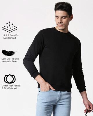 Shop Black Fleece Sweater-Front