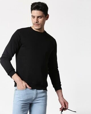 Shop Black Fleece Sweater-Front