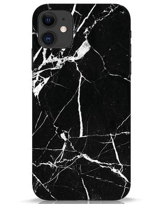 Shop Black Marble iPhone 11 Mobile Cover-Front