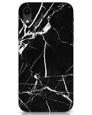 Shop Black Marble iPhone XR Mobile Cover-Front