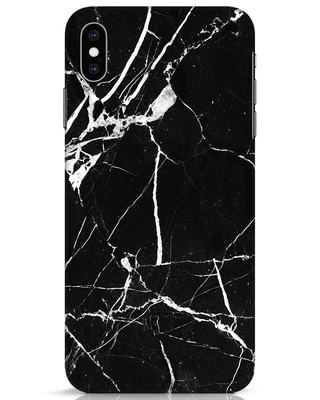 Shop Black Marble iPhone XS Max Mobile Cover-Front