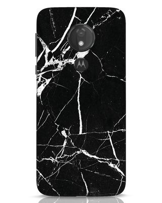 Shop Black Marble Moto G7 Power Mobile Cover-Front