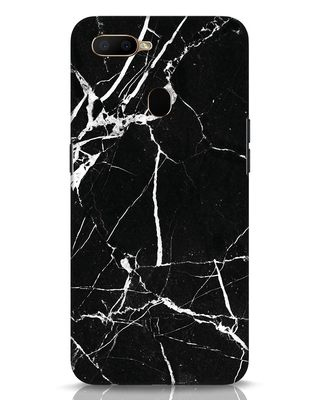 Shop Black Marble Oppo A5s Mobile Cover-Front