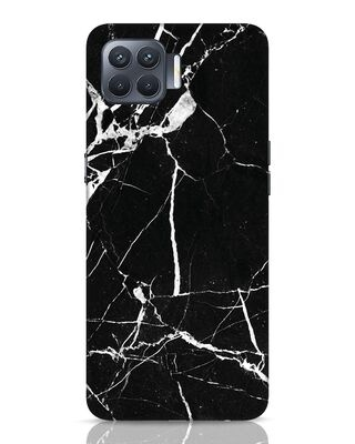 Shop Black Marble Oppo F17 Pro Mobile Cover-Front