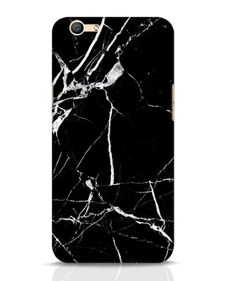 Shop Black Marble Oppo F1s Mobile Cover-Front
