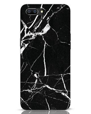 Shop Black Marble Realme C1 Mobile Cover-Front