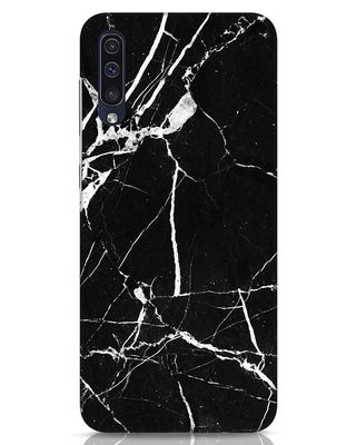 Shop Black Marble Samsung Galaxy A50 Mobile Cover-Front