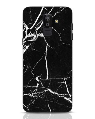 Shop Black Marble Samsung Galaxy J8 Mobile Cover-Front