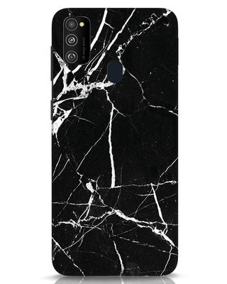 Shop Black Marble Samsung Galaxy M30s Mobile Cover-Front