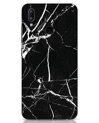 Shop Black Marble Vivo Y91 Mobile Cover-Front