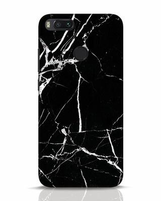 Shop Black Marble Xiaomi Mi A1 Mobile Cover-Front